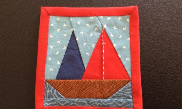 Art textile – Les carrés de porte