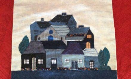 Art textile – Le village